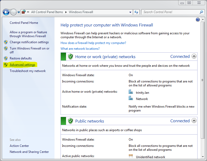 blocking an application with windows firewall