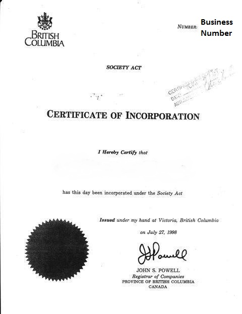 bc registry services incorporation application