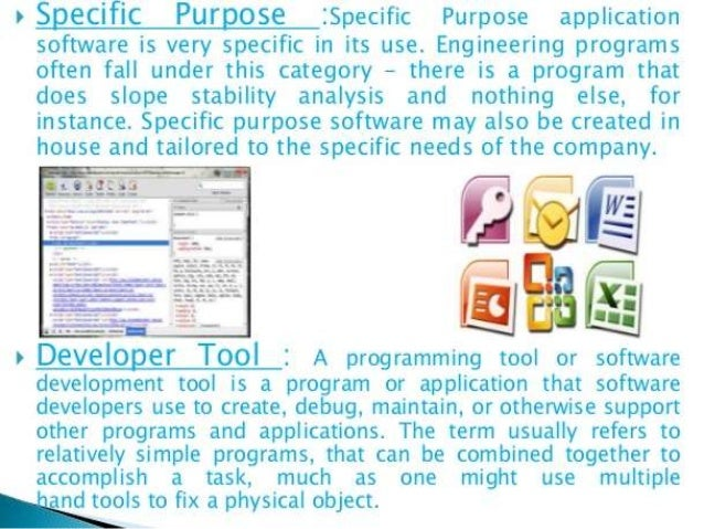 purpose of computerized application software