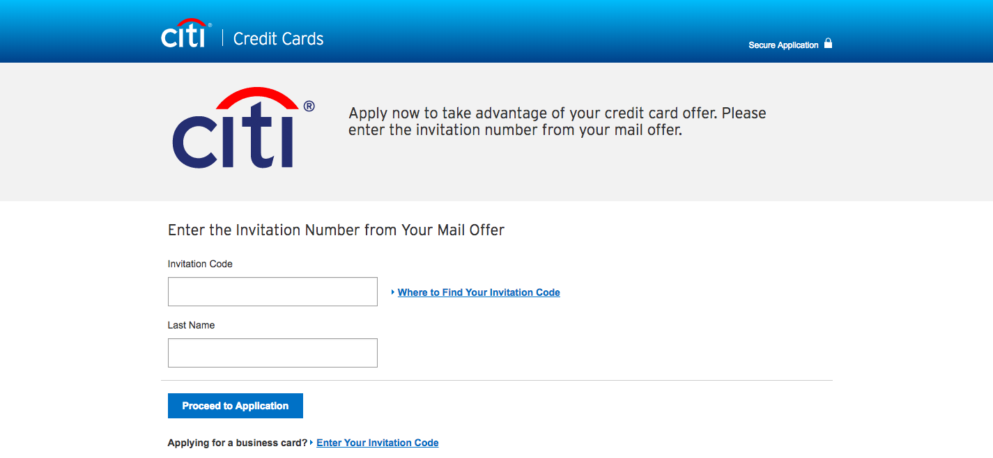 joint credit card application citi