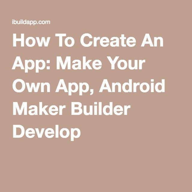 build my first android application