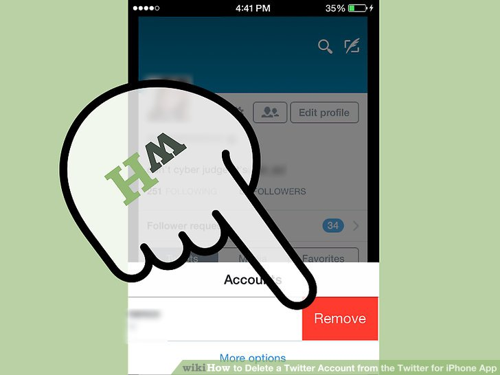 how to delete uc application account
