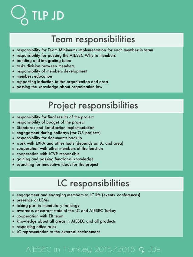application support team lead responsibilities