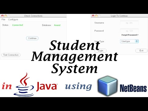 student management application in java