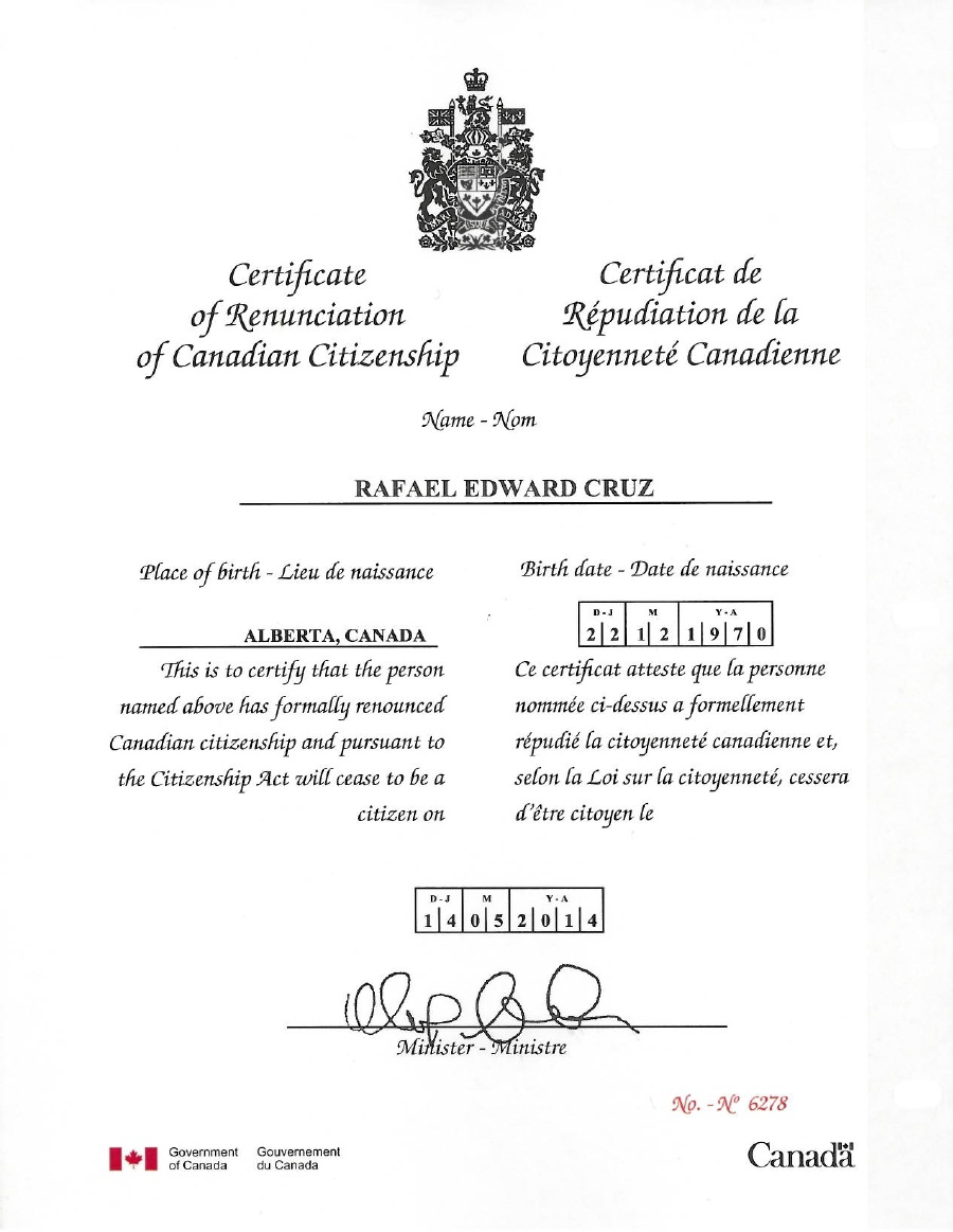 application for canadian citizenship certificate minors