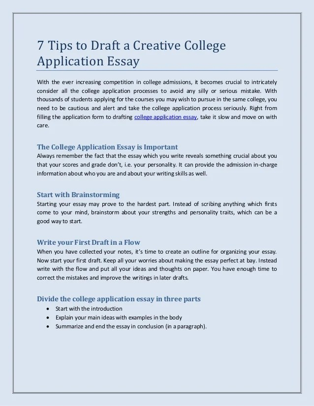 how to stand out university application