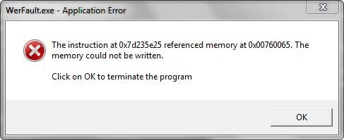 tslgame.exe application error memory could not be written